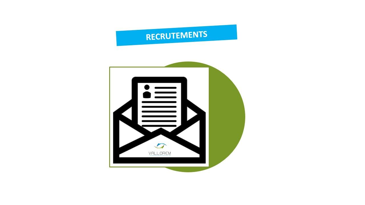 Postes ouverts au recrutement